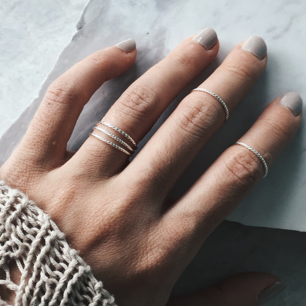 Twisted Stacker Ring