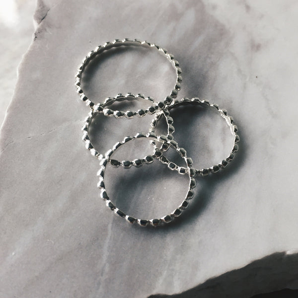 Tiny Chain Stacker Ring