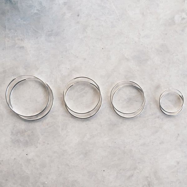 Mixed Lot Silver Hoops