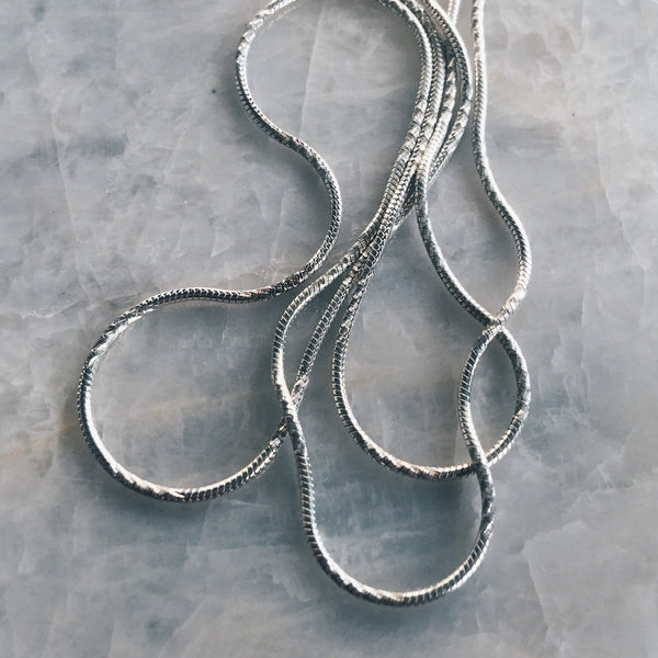 Silver Chain - Snake With Detail