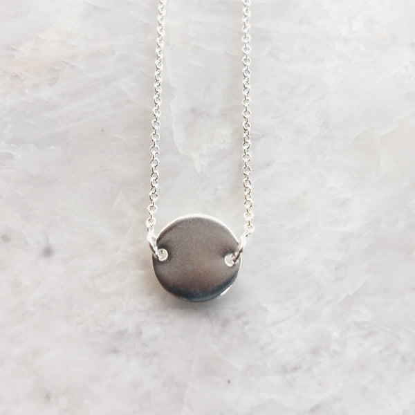 Tiny Circle Pendant Necklace