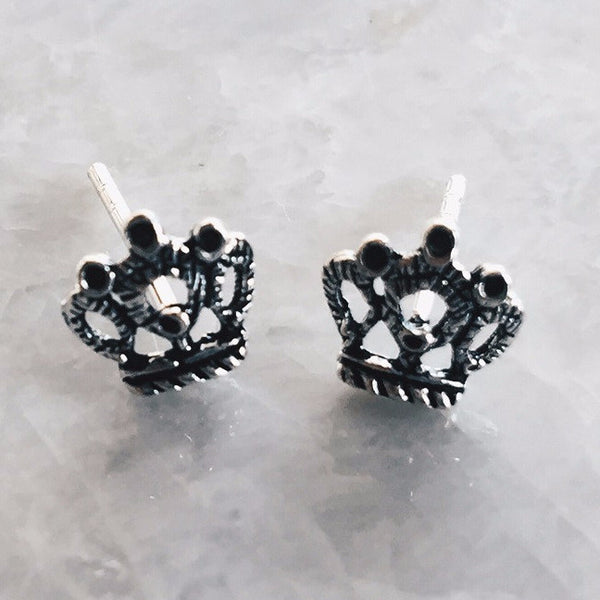 Fancy Crown Studs