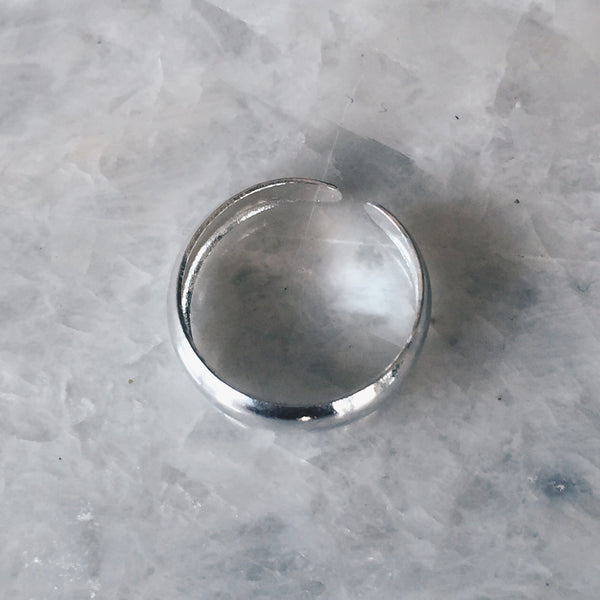 Rounded Silver Toe Ring