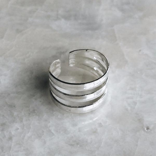 Triple Silver Toe Ring