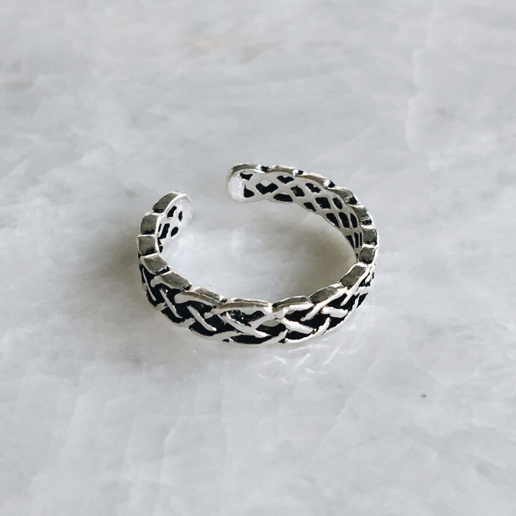 Braided Filigree Toe Ring