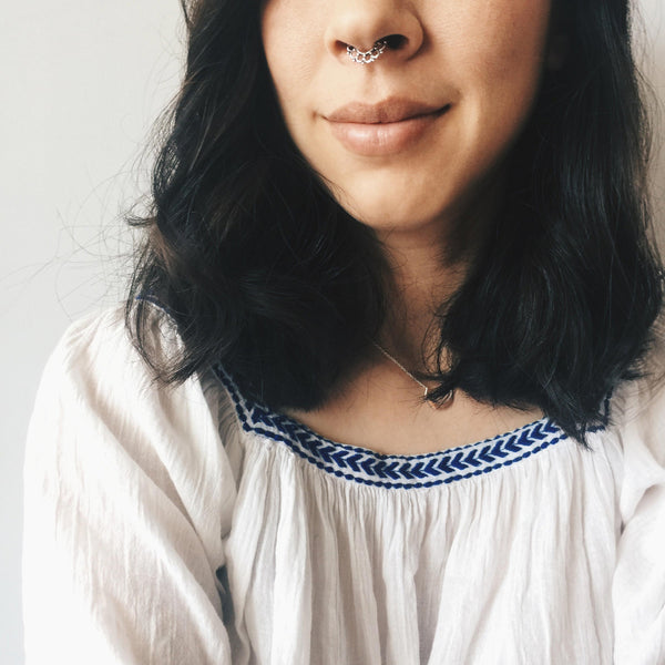 Geometric Six Circles Septum Ring