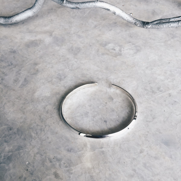 5mm Plain Silver Bangle Bracelet