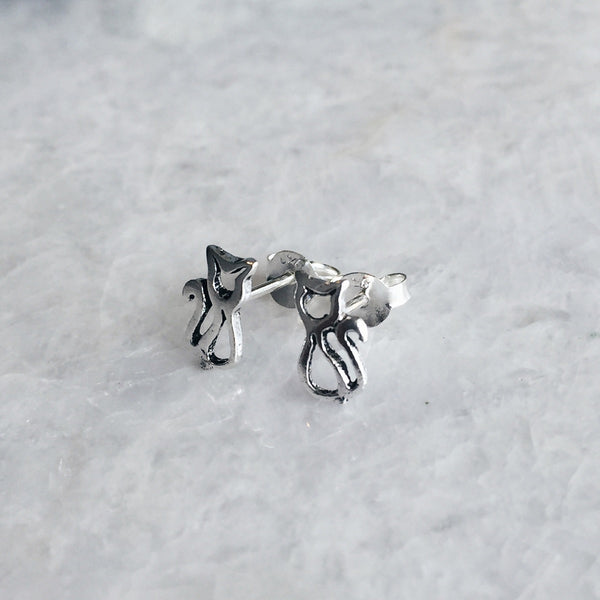 Cat Outline Studs
