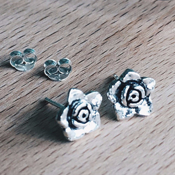 Blooming Rose Studs