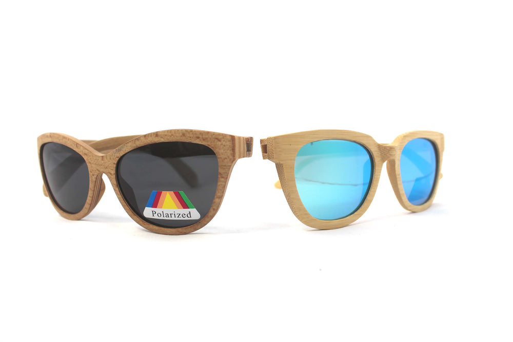 His & Hers: Natural Bamboo Sunglasses - Solis Bamboo Sunglasses