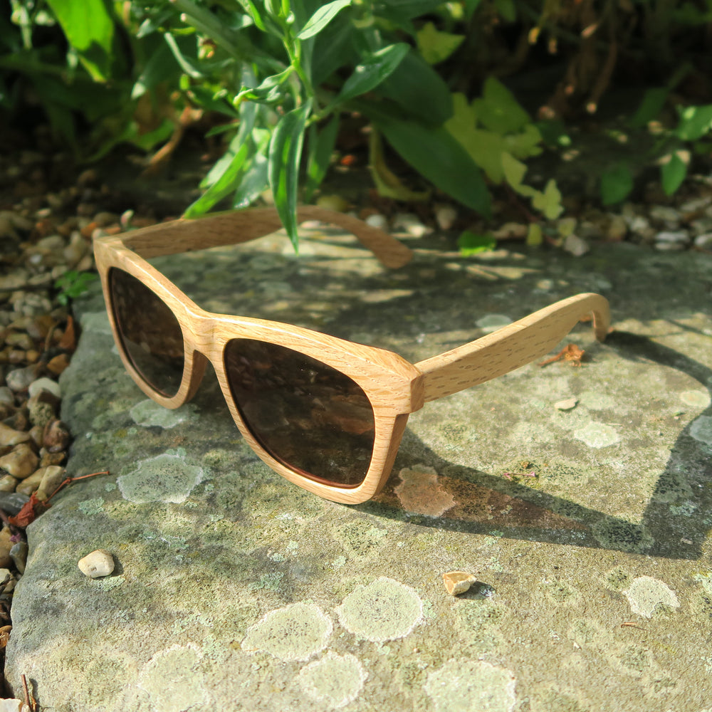 Welbury: Mens Wooden Sunglasses - Solis Bamboo Sunglasses