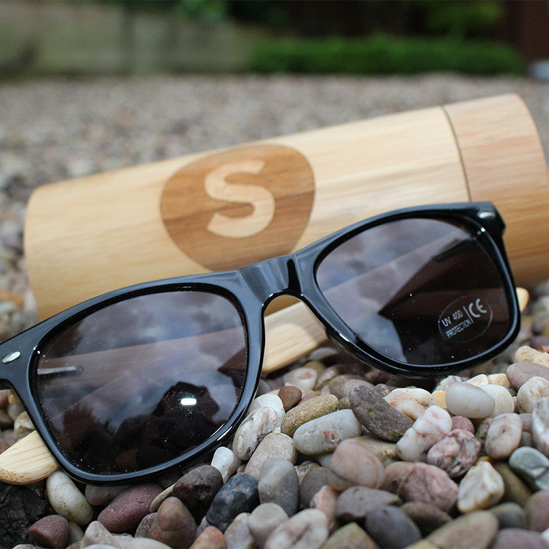 Bamboo UV400 Sunglasses & Bamboo Case - Free Shipping