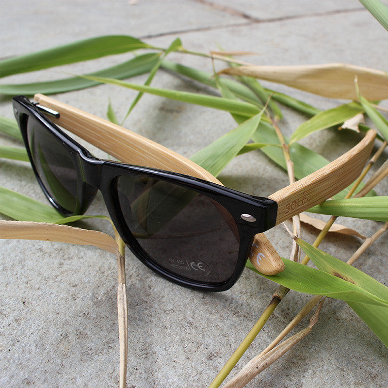 Bamboo UV400 Sunglasses & Bamboo Case - Free Shipping - Solis Bamboo Sunglasses