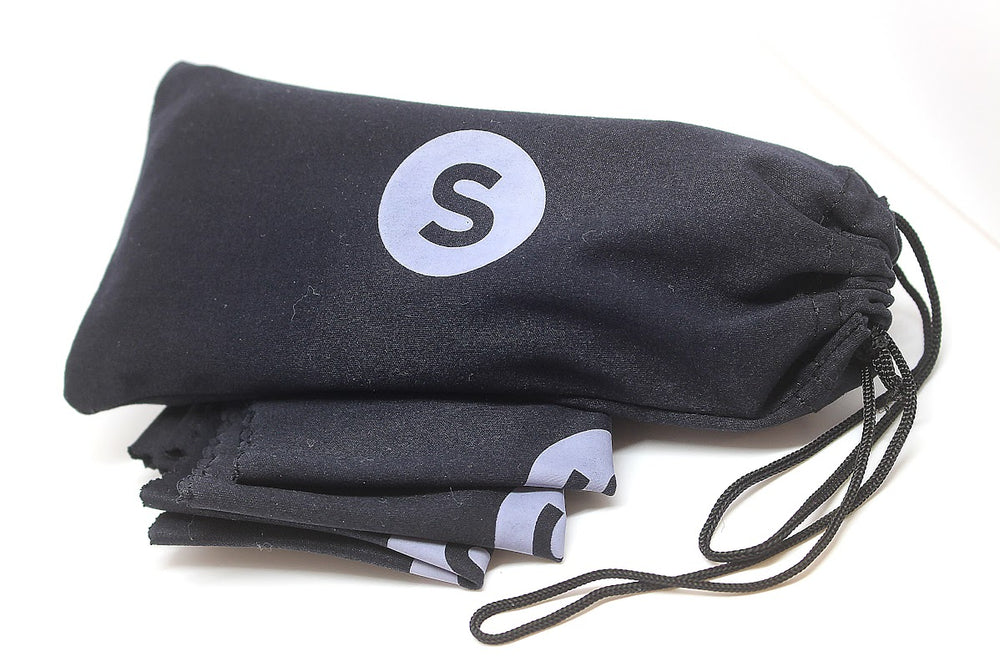 Soft Black Pouch Bag & Cleaning Cloth For Sunglasses