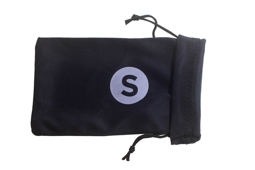 Soft Black Pouch Bag & Cleaning Cloth For Sunglasses - Solis Bamboo Sunglasses