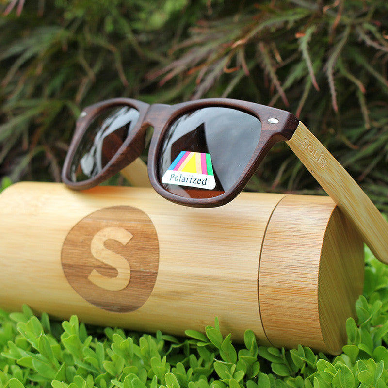 Polarised Bamboo Sunglasses & Case - Free Shipping