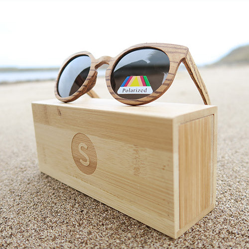 Beauworth: Womens Zebrawood Sunglasses