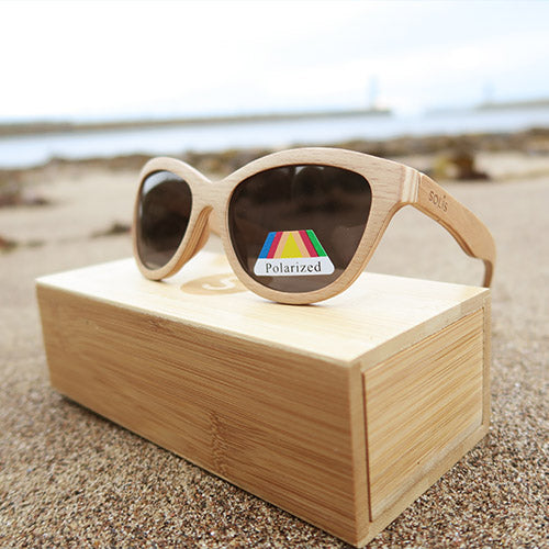 Fernhurst: Womens Natural Bamboo Sunglasses