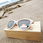 Fernhurst: Womens Natural Bamboo Sunglasses - Solis Bamboo Sunglasses