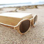 Firbank: Womens Zebrawood Sunglasses - Solis Bamboo Sunglasses