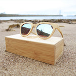 Hetton: Mens Natural Bamboo Sunglasses