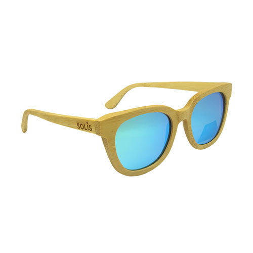 Hetton: Mens Natural Bamboo Sunglasses - Solis Bamboo Sunglasses