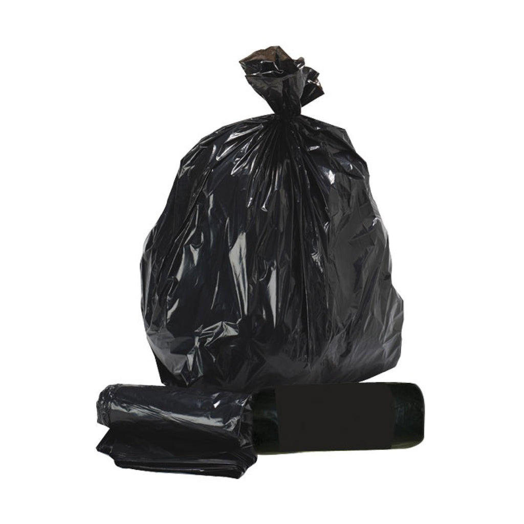 "Heavy Duty 90L Black Refuse Sacks - 18"" x 29"" x 39"" - Box/200"