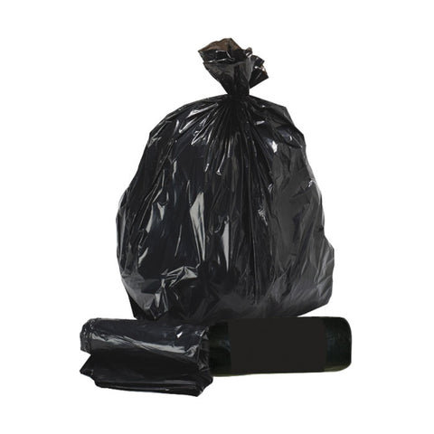 "Standard 90L Black Refuse Sacks - 18"" x 29"" x 39"" - Box/200"