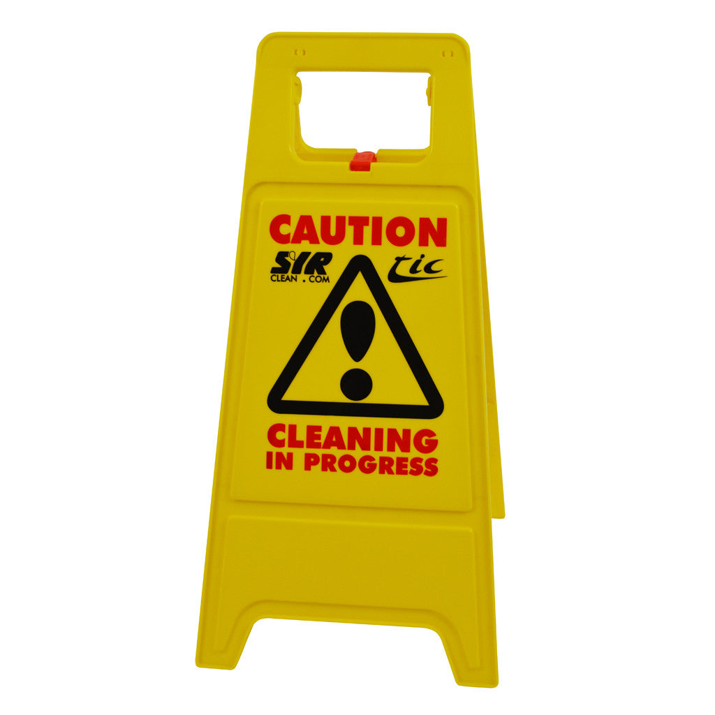 Caution Wet Floor & Cleaning In Progress Sign - A Frame