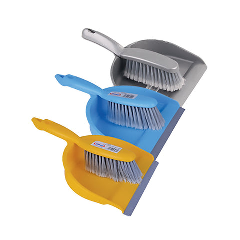 Abbey Retail Dustpan & Brush Set - Silver