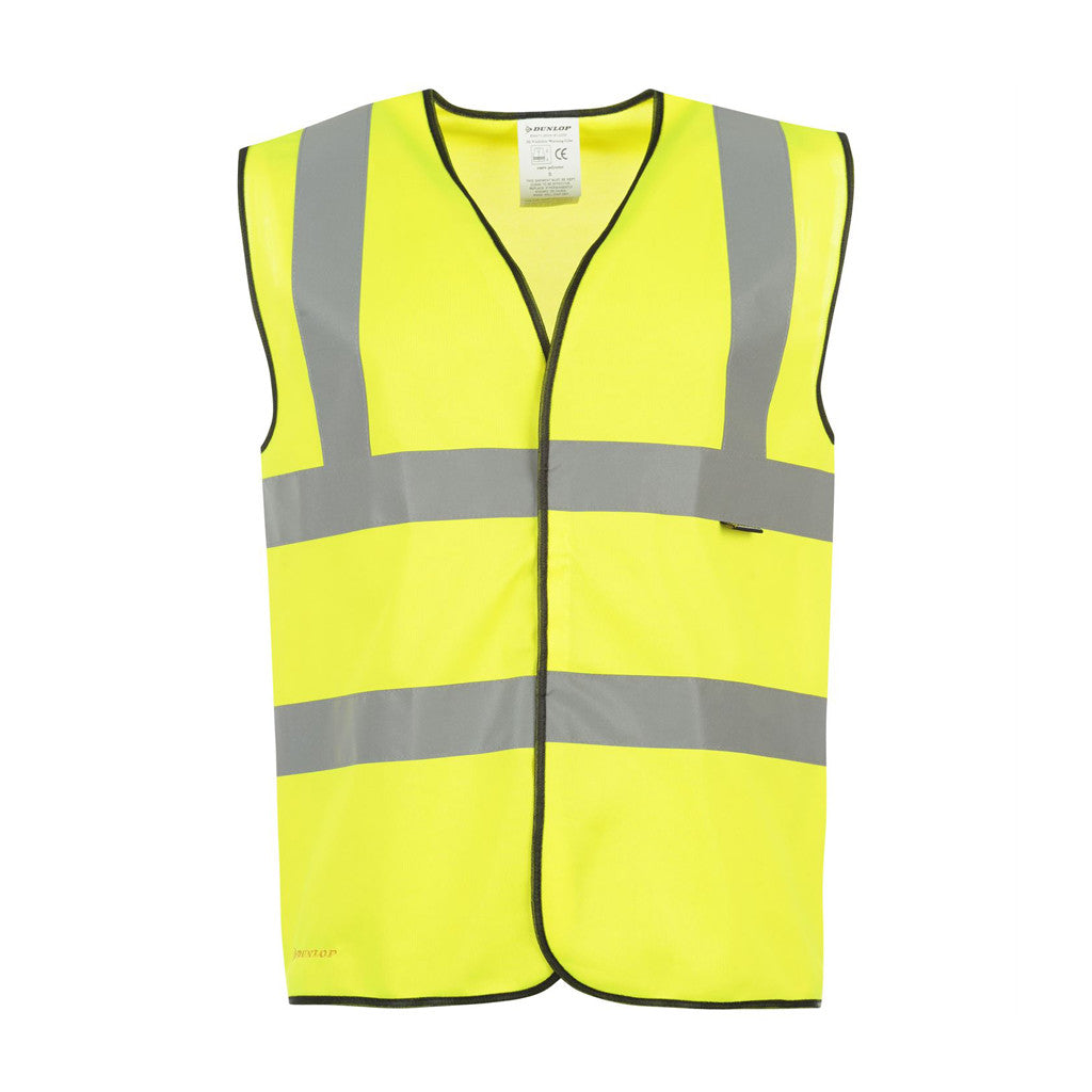 B-Seen® High Visibility Waistcoat / Vest - Yellow