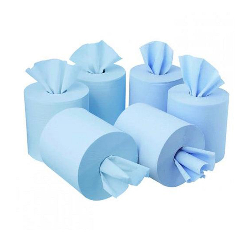 Blue 2 Ply Contract Centrefeed Rolls (120m Roll) - 6 Pack