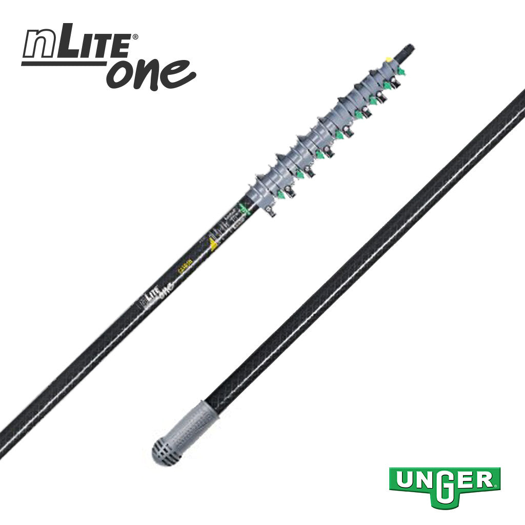Unger nLite® One - CT12T Carbon Fibre - 8 Section / 43ft Pole