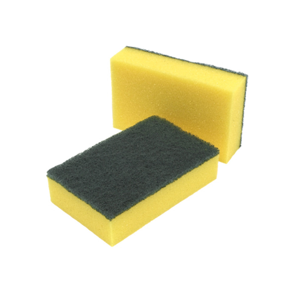 Catering Thick Sponge Scourers - 10 Pack