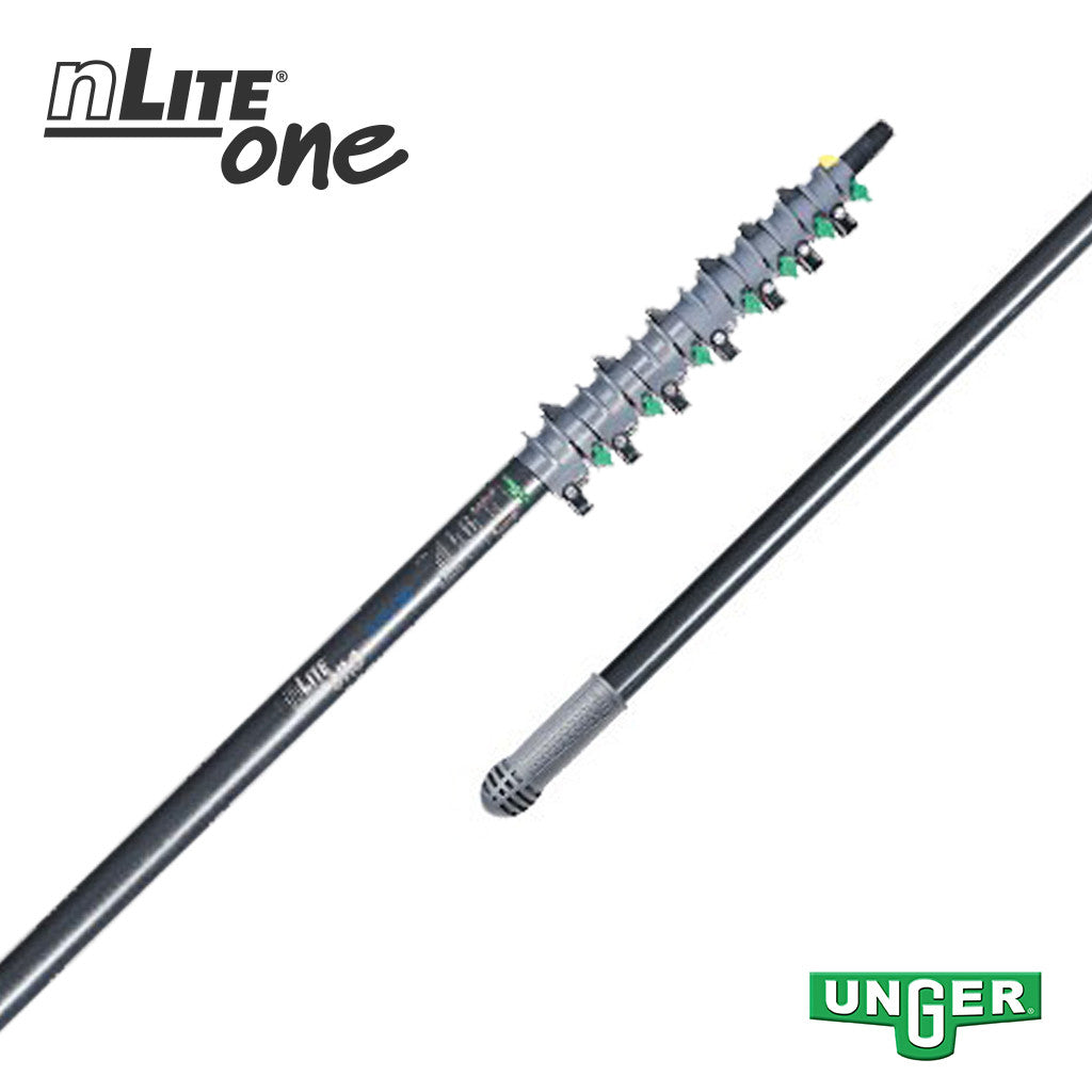 Unger nLite® One - GF75T Glass Fibre - 7 Section / 28ft Pole