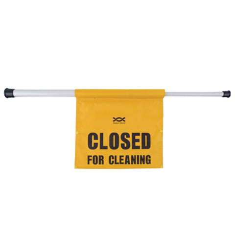 Hanging 'Closed For Cleaning' Telescopic Door Sign