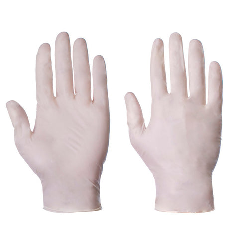 Latex Powdered Disposable Gloves - Pack of 100