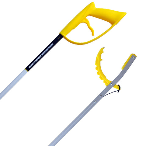 Salmon Litter Picker - 81cm Fixed Head Litter Picker with Trigger Guard - LP31