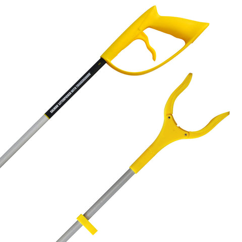 Salmon Litter Picker - 82cm Swivel Head Litter Picker with TriggerGuard - LP32