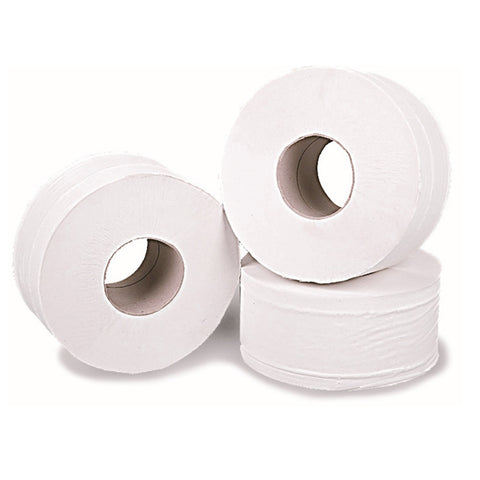 "Mini Jumbo Toilet Rolls | Premium 2 Ply Tissue | Standard Core 2.25"" / 57mm 