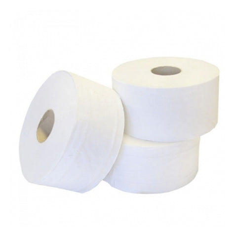 "Mini Jumbo Toilet Rolls | Premium 2 Ply Tissue | Large Core 3"" / 76mm 
