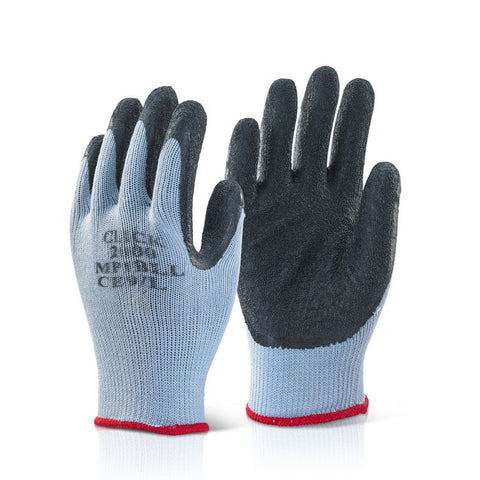 Latex Palm Coated Handling Glove - Black