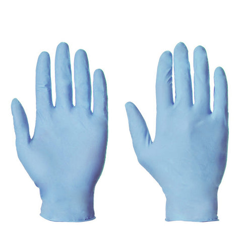 Nitrile Powder Free Disposable Gloves - Blue