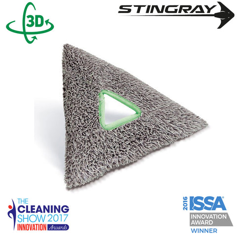 Unger Stingray Glass Cleaning Deep Clean Microfibre Tripad - SRPD2