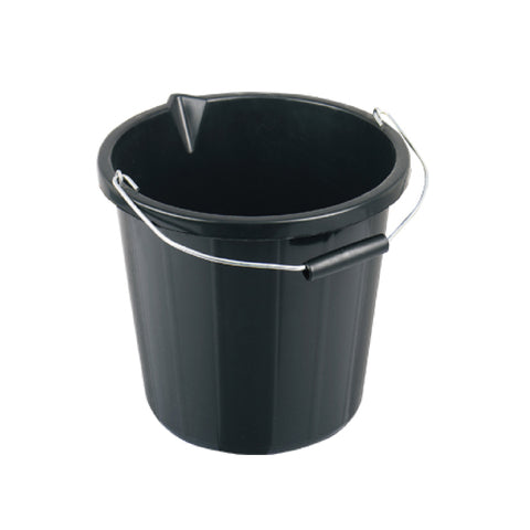 Builders Bucket Black - 15 Litre