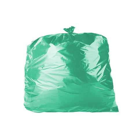 "Green 90L Refuse Sacks - 18"" x 29"" x 39""- Case/200"