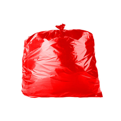 "Red 90L Refuse Sacks - 18"" x 29"" x 39""- Case/200"