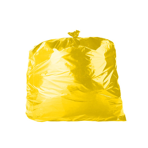 "Yellow 90L Refuse Sacks - 18"" x 29"" x 39""- Case/200"
