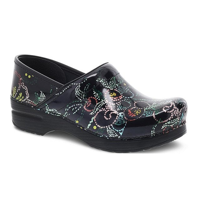 Women's Dansko Professional Clog - Dotted Floral Patent