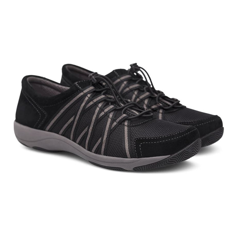Women's Dansko Honor - Black/Black Suede (WIDE)